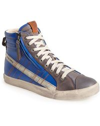 Diesel 'D-Velows D-String' Zip High Top Sneaker - Lyst