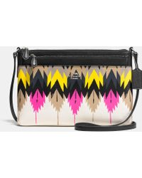 Coach Swingpack With Pop-Up Pouch In Printed Crossgrain Leather - Lyst