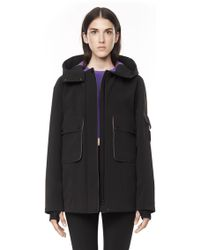 Alexander Wang Performance Shell Hooded Jacket - Lyst