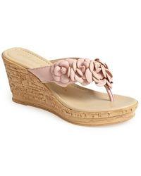 Athena Alexander 'Corra' Platform Wedge Sandal - Lyst