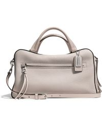 Coach Bleecker Toaster Satchel in Pebbled Leather - Lyst