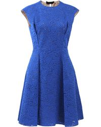 N°21 Cap Sleeve Lace Dress - Lyst