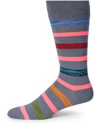 Paul Smith Neon Stripe Dress Socks - Lyst