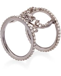 Bochic - Floral Spacer Diamond Ring - Lyst