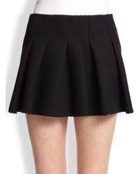 Alexander Wang Pleat-Front Mini Skirt - Lyst