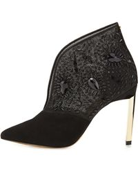 Ted Baker Fausabia Embellished Mesh Bootie - Lyst