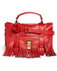Proenza Schouler 'Ps1 Pouch Fringe' Tiny Leather Satchel - Lyst