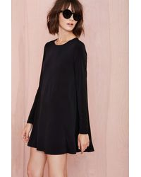 Nasty Gal Full Swing Dress Black - Lyst