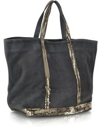 Vanessa Bruno Les Cabas Leather and Sequin Medium Tote - Lyst