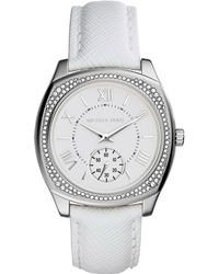 Michael Kors Bryn Stainless Steel and Leather Watch - Lyst
