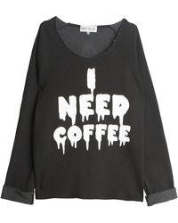 Wildfox Coffee Sweatshirt black - Lyst