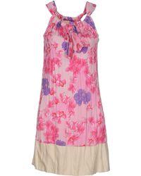 Coast Short Dress pink - Lyst