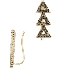 House Of Harlow Tessallation Ear Crawlers - Gold - Lyst