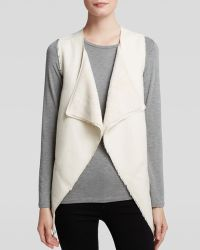 Guess Vest - Draped Faux Sherpa - Lyst