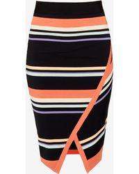 Ted Baker | Stripe Wrap Midi Skirt | Lyst