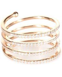 Stone - Vertigo 18kt Rose Gold Ring With White Diamonds - Lyst