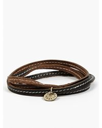 Nonnative Mens Black Horween Leather Labourer Cord Bracelet - Lyst