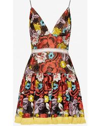 Alexis | Yiana Floral Embroidered Flare Dress | Lyst