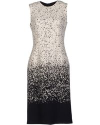 Burberry Prorsum Black Kneelength Dress - Lyst