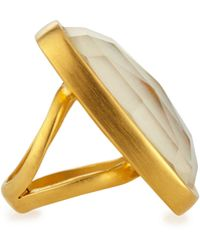 Dina Mackney - Mother-Of-Pearl Doublet Ring - Lyst