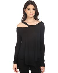 Brigitte Bailey - Cassidy Long Sleeve Ripped Top - Lyst