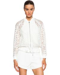 3.1 Phillip Lim Bomber With Drawstring Cinched Hem - Lyst