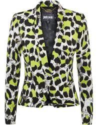 Just Cavalli Neon Leopard Blazer - Lyst