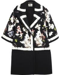 Erdem Jaidee Printed Stretch-crepe Coat - Lyst