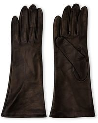 Portolano Black Silk-Lined Gloves - Lyst