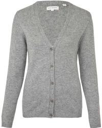 Chinti & Parker Grey Pineapple Elbow Cashmere Cardigan - Lyst