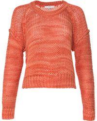 IRO Long-Sleeve Melange Sweater orange - Lyst