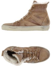 Leather Crown High-Tops & Trainers khaki - Lyst