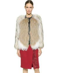 J. Mendel Collarless Fur Jacket - Lyst