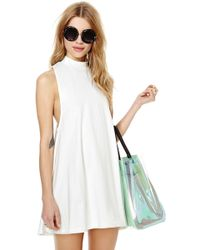 Nasty Gal White Lie Dress - Lyst
