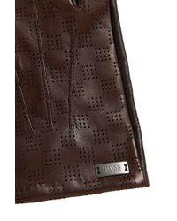 BOSS - 'hey-tt' | Lambskin Perforated Touchscreen Gloves - Lyst