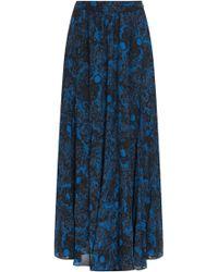Paul & Joe Printed Silk Long Skirt - Lyst