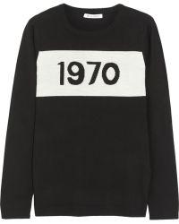 Bella Freud Black Wool 1970 Jumper black - Lyst