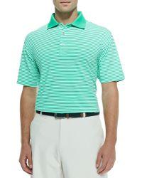 Peter Millar Striped Jersey Short-Sleeve Polo Shirt - Lyst