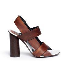 Proenza Schouler Wooden Heel Bark Print Leather Sandals - Lyst