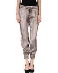 Gucci Silver Casual Pants - Lyst