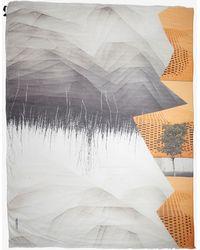 Yigal Azrouel Steel Lattice Tree Print Scarf - Lyst