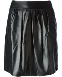 Nina Ricci Pleated Front Mini Skirt - Lyst
