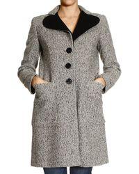 Love Moschino Coat Woman Moschino - Lyst