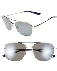 Kaenon - 'miramar' Polarized 56mm Navigator Sunglasses - Chrome - Lyst