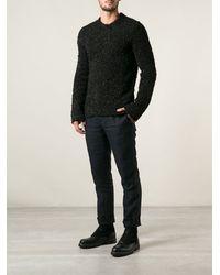 Comme Des Garçons Textured Knit Sweater - Lyst
