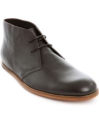 Opening Ceremony Brown Leather Desert Boot Shoes brown - Lyst