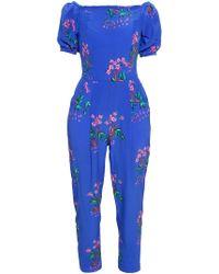 Tata Naka - Printed Silk Georgette Jumpsuit - Lyst