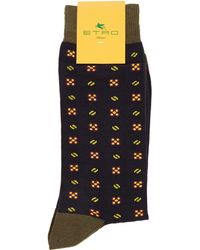 Etro Graphic Print Socks - Lyst