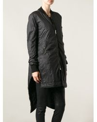 DRKSHDW by Rick Owens Asymmetric Padded Coat - Lyst