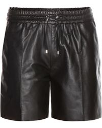 Victoria Beckham Leather Shorts - Lyst